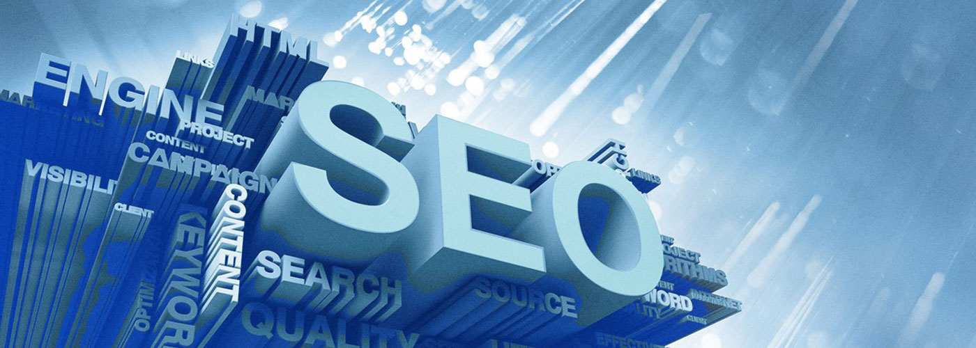 SEO 3D Graphic with other words